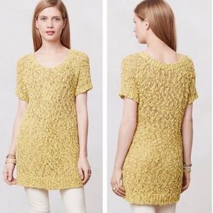 4/$20 ANTHROPOLOGIE Moth Yellow Knit Sweater Tunic